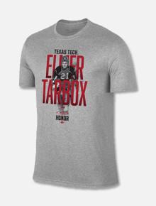 "Texas Tech Red Raiders ""Elmer Tarbox""  #21 Ring Of Honor Grey T-Shirt"