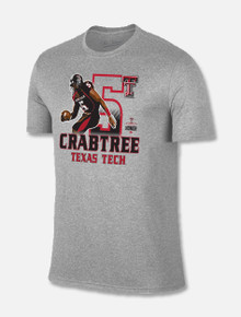 "Texas Tech Red Raiders ""Michael Crabtree"" #5 Ring Of Honor Grey T-Shirt"
