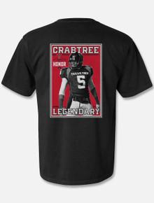 "Texas Tech Red Raiders ""Legendary""  Michael Crabtree Ring Of Honor Black Comfort Color T-Shirt"