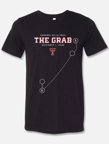 "Texas Tech Red Raiders ""The Grab""  Michael Crabtree Ring Of Honor Black T-Shirt"