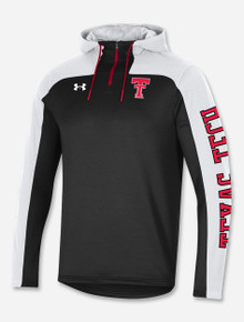 """Under Armour Texas Tech """"Heritage Throwback"""" Hooded 1/4 Zip Pullover"""