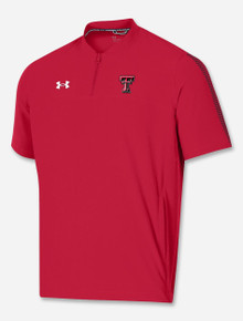 "Under Armour Texas Tech Red Raiders ""Chip Shot"" Short Sleeve Woven 1/4 Zip"