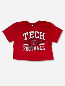 "Texas Tech Red Raiders ""Big Baller"" Puff Football Crop Top"