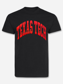 """Texas Tech Red Raiders """"Gnarly Iced Out Classic Arch"""" PUFF Print T-Shirt"""