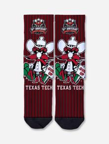 Texas Tech Raider Red 50th Anniversary Crew Sock