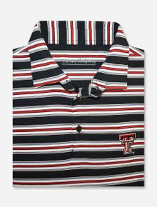 """Texas Tech Red Raiders """"Air Mail"""" Tri Team Color-Striped Men's Polo"""