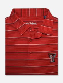 "Texas Tech Red Raiders ""Bankshot"" Striped Men's Red Polo"