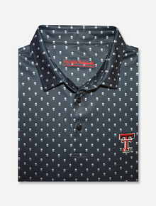 "Texas Tech Red Raiders ""Pirate Era"" Skull Pattern Men's Polo"