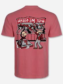 "Texas Tech Red Raiders ""Die Hard Fans"" Crimson Comfort Color T-shirt"