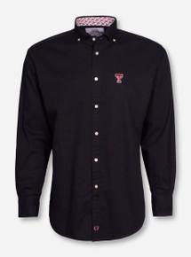 Thomas Dean Texas Tech Solid Black Dress Shirt