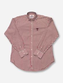 Thomas Dean Texas Tech Vertical Stripe Red   Black Dress Shirt 64d05b8da