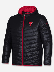 Under Armour Texas Tech Red Raiders Throwback Gameday Puffer Black Jacket
