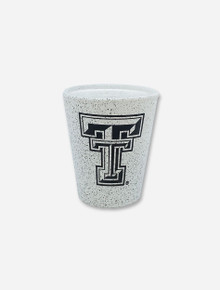 Texas Tech Double T Speckled Granite Shot Glass