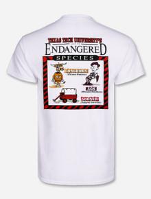 "Texas Tech Red Raiders ""Endangered Species"" White T-shirt"