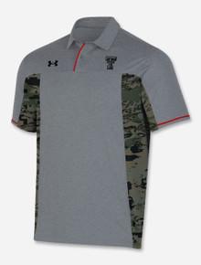 "Texas Tech Under Armour 2021 ""Military Basic"" Military Appreciation Grey Polo"