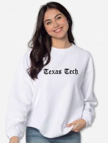 """Texas Tech Red Raiders """"Old English""""  White Corduroy Sweatshirt"""