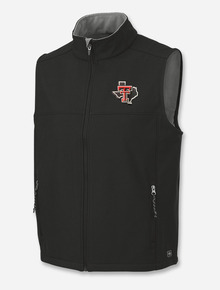 "Charles River Texas Tech ""Soft Shell"" Pride Black Full Zip Vest"