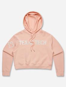 """Texas Tech Red Raiders """"Seashore"""" Pink Crop Top Hoodie"""