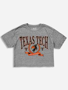 Retro Brand Texas Tech Arch Over Masked Rider in Wreath Heather Crop