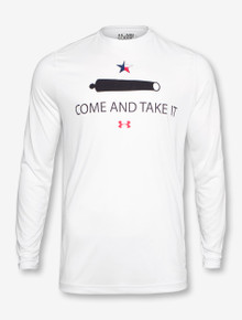 Under Armour Texas Tech Come & Take It on White Long Sleeve