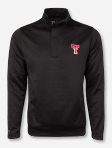 "Antigua Texas Tech ""Victor"" Black Quarter Zip Pullover"