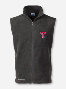 "Texas Tech Columbia ""Flanker"" Charcoal Fleece Vest"