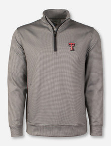 Texas Tech Double T on Houndstooth Quarter Zip Pullover