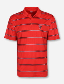 "Cutter & Buck Texas Tech ""Tackle"" Honeycomb Patterned Polo"