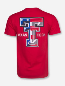 American Flag Double T T-Shirt - Texas Tech
