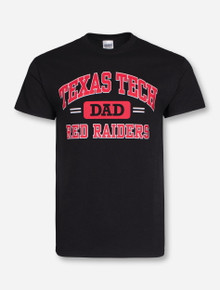 Texas Tech Arch over Dad & Red Raiders on Black T-Shirt