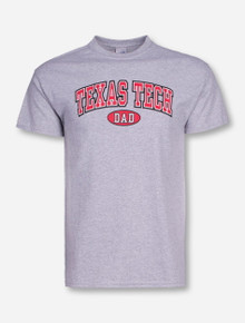 Texas Tech Dad in Oval on Heather Grey T-Shirt