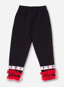 Texas Tech Dancewear Ruffled TODDLER Black Leggings
