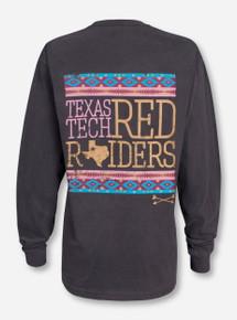 Texas Tech Golden Arrow on Charcoal Long Sleeve - Red Raiders