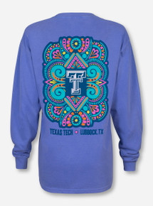 Texas Tech Hippie on Neon Blue Long Sleeve