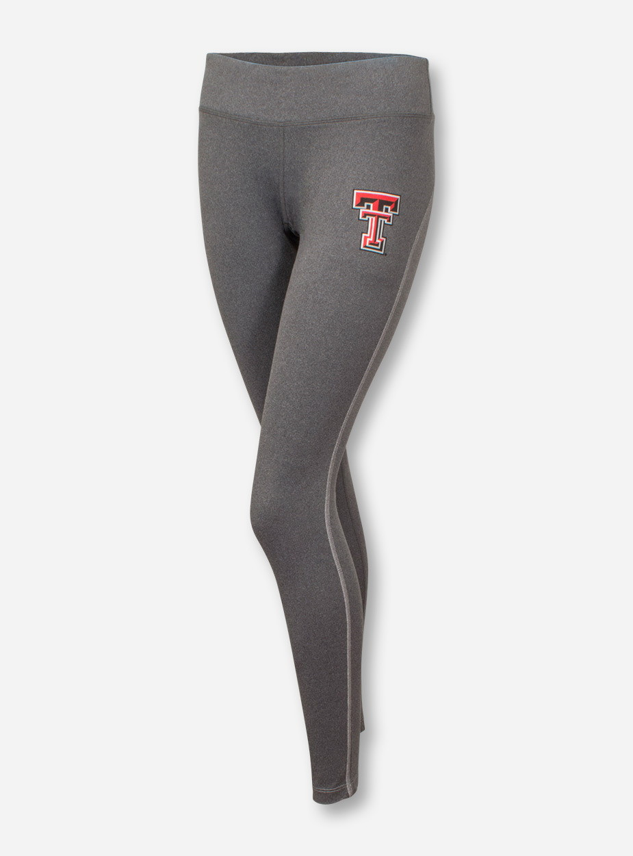 2f49758956 Under Armour Texas Tech Red Raiders Double T on Heather Charcoal Yoga Pants