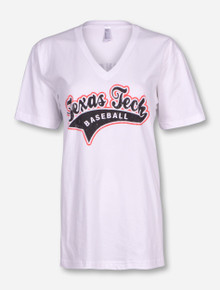 Texas Tech Happiness Baseball White T-Shirt