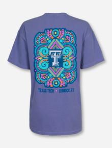 Texas Tech Hippie Neon Blue T-Shirt