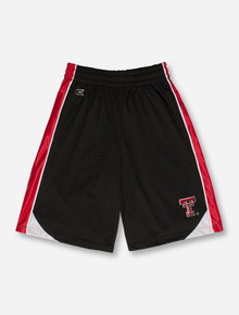 Arena Double T on YOUTH Black Mesh Basketball Shorts