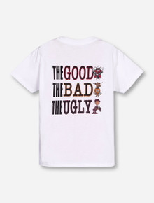The Good The Bad The Ugly YOUTH White T-Shirt - Texas Tech