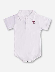 Creative Knitwear Texas Tech Double T on INFANT Polo Onesie