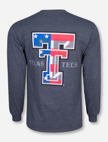 American Flag Double T Long Sleeve - Texas Tech