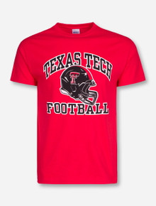 Texas Tech Arch over Modern Football Helmet T-Shirt