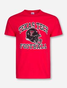 Texas Tech Arch over Modern Football Helmet T-Shirt