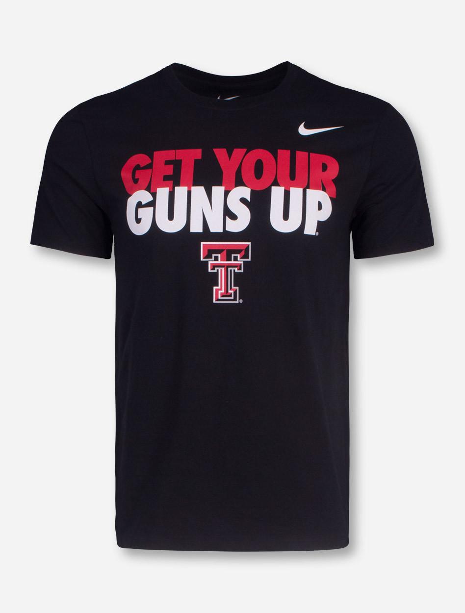 new style d3c42 c5f0c Nike Texas Tech Get Your Guns Up T-Shirt