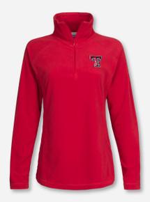 """Texas Tech Columbia """"Glacial"""" Women's Fleece Quarter Zip Pullover"""