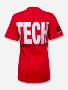 Lubbock, TX TECH in Silver T-Shirt