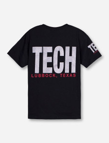 Lubbock, TX TECH in Silver YOUTH T-Shirt