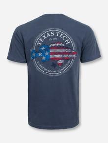American Fish Denim Blue T-Shirt - Texas Tech