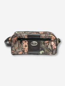 Texas Tech Double T Emblem on Camo Canvas Toiletry Bag