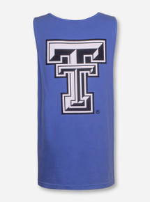 Texas Tech Large Black and White Double T Tank Top